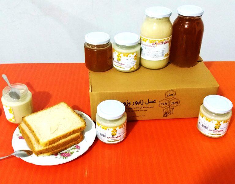عسل خامه ای شده اصل creamy honey
